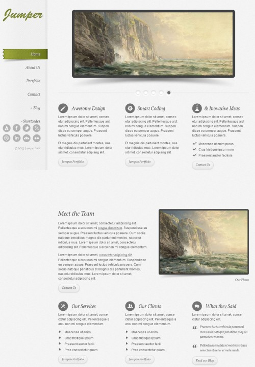 jumper wp one page wordpress theme