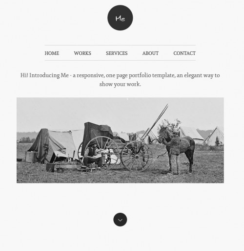 me one page wordpress portfolio theme