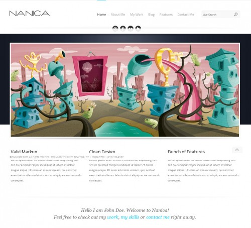 naninca single page wordpress themes