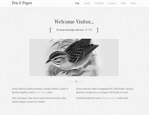 pen and paper responsive wordpress theme