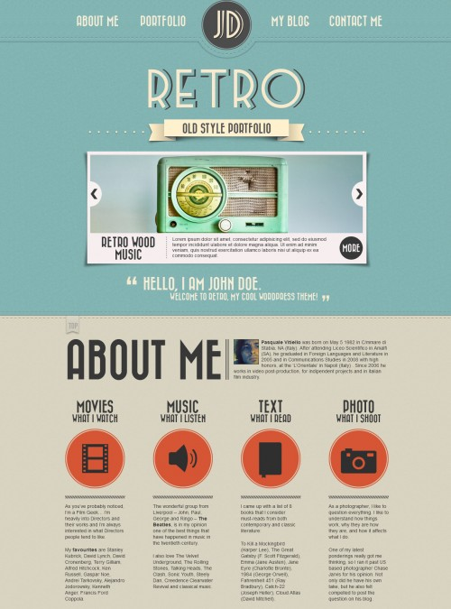 Retro WordPress Portfolio Theme