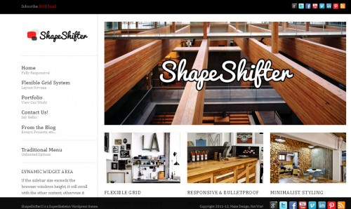 shapeshifter 2 wordpress theme