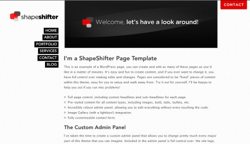 shapeshifter one page wordpress theme