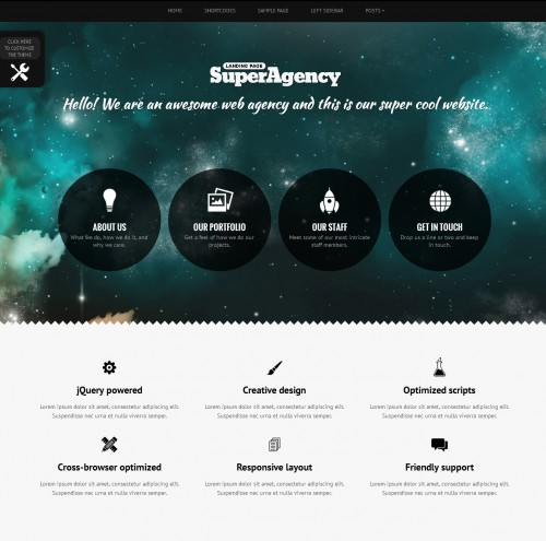 Super Agency Responsive Single Page theme
