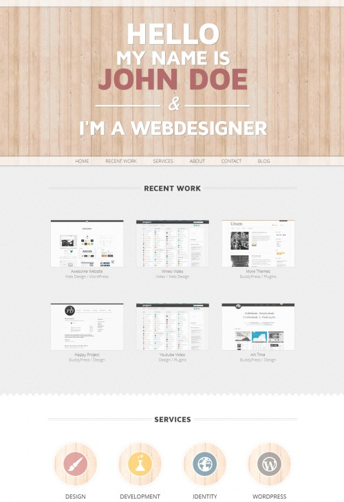 woop wordpress single page portfolio theme