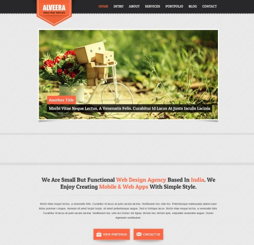alveera single page html5 responsive